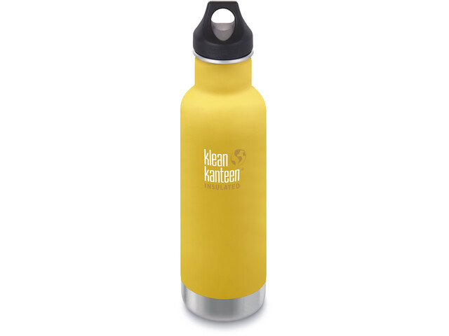 Klean Kanteen Classic Vacuum Insulated Bottle Loop Cap 592ml Lemon Curry Matt